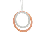 Pendant–18ct Gold: White & Rose