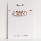 Stack ring ~ Skinny Satin Gold Vermeil