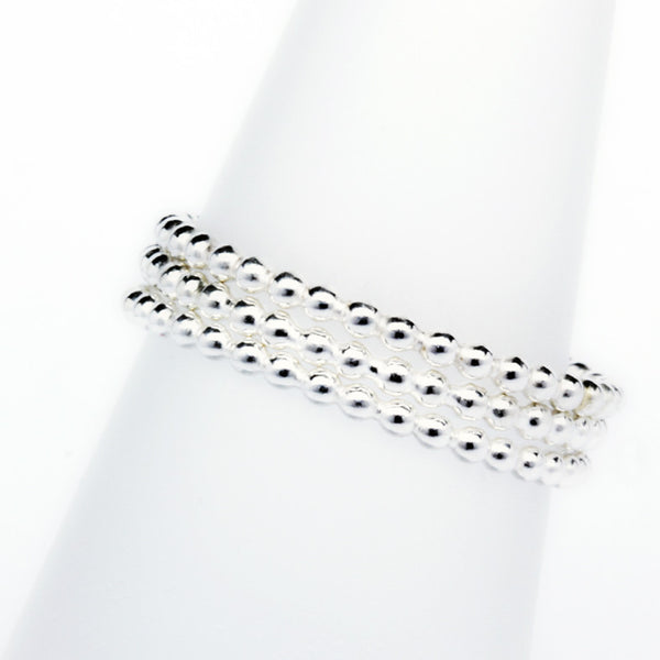 Stack Ring ~ Bead Silver