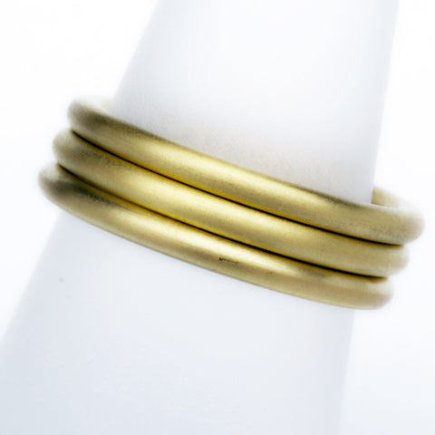 Stack ring ~ Halo Satin Gold Vermeil