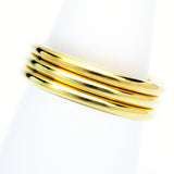 Stack ring ~ Halo Shiny Gold Vermeil