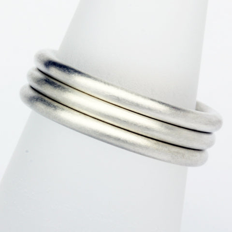 Stack ring ~ Halo Satin Silver