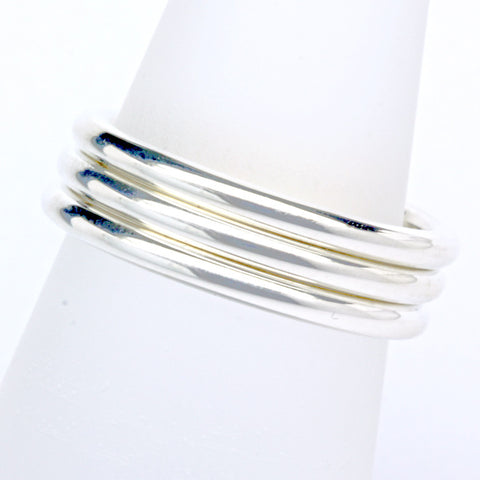 Stack ring ~ Halo Shiny Silver