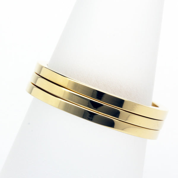 Stack ring ~ Skinny Shiny Gold Vermeil