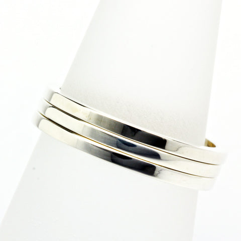 Stack ring ~ Skinny Shiny Silver