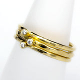 Stack Ring ~ Crystal Gold Vermeil