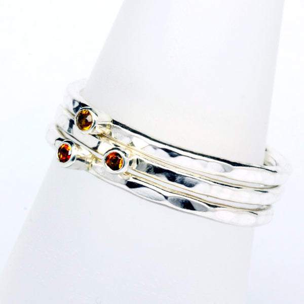 Stack Ring ~ Citrine Silver
