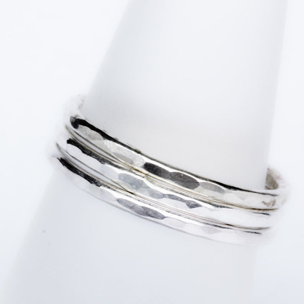 Stack Ring ~ Bright Silver