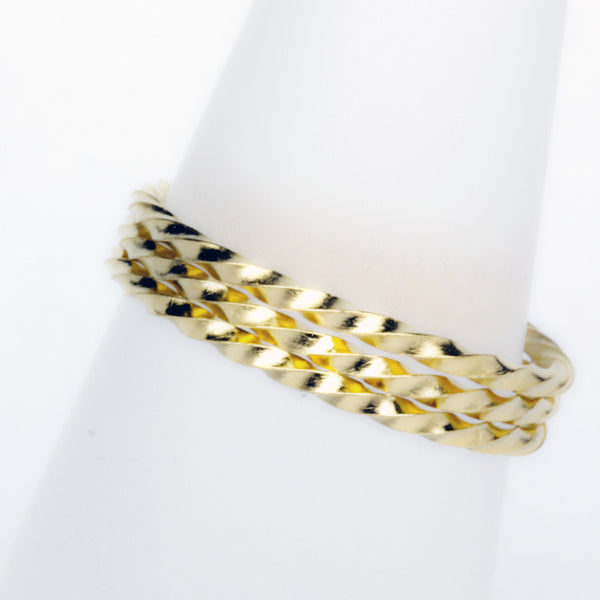 Stack Ring ~ Twist Gold Vermeil