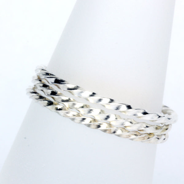 Stack Ring ~ Twist Silver