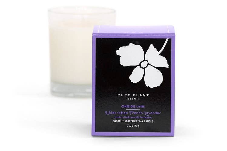 Vegan Coconut Wax Essential Oil Candle - Wildcrafted French Lavender