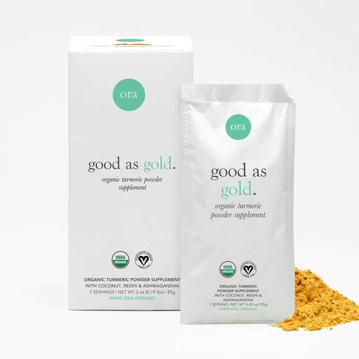 Ora Good As Gold Organic Turmeric Milk Powder  7 servings
