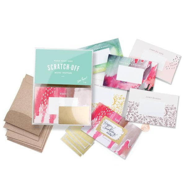Inklings Paperie - Scratch-off Mini Notes Set - Brushy