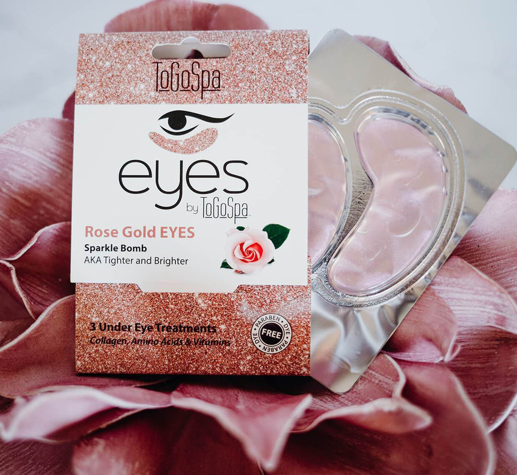 Rose Gold Eyes Masks
