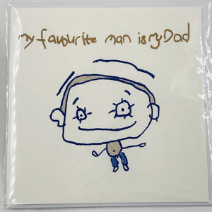 My Favourite Man is My Dad - Card