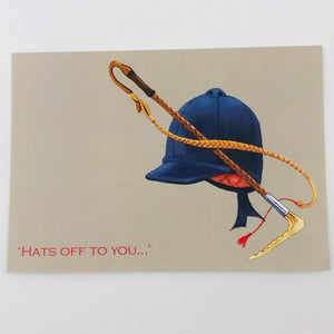 Hats off to you - card
