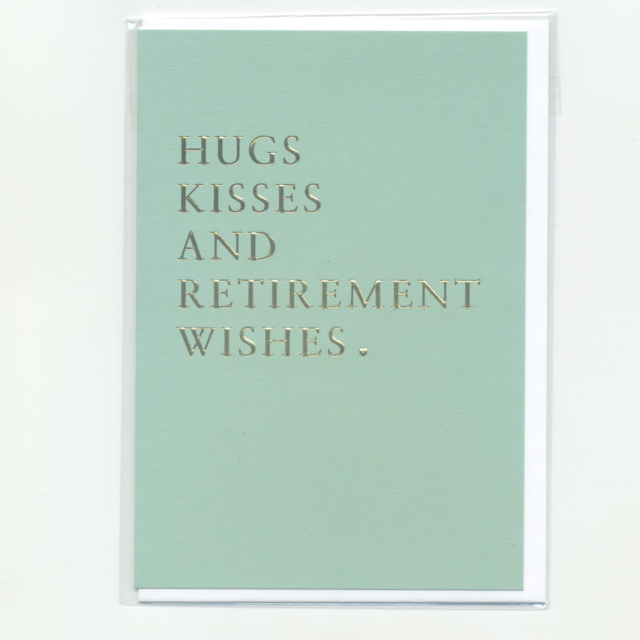 Hugs Kisses and Retirement Wishes - Card