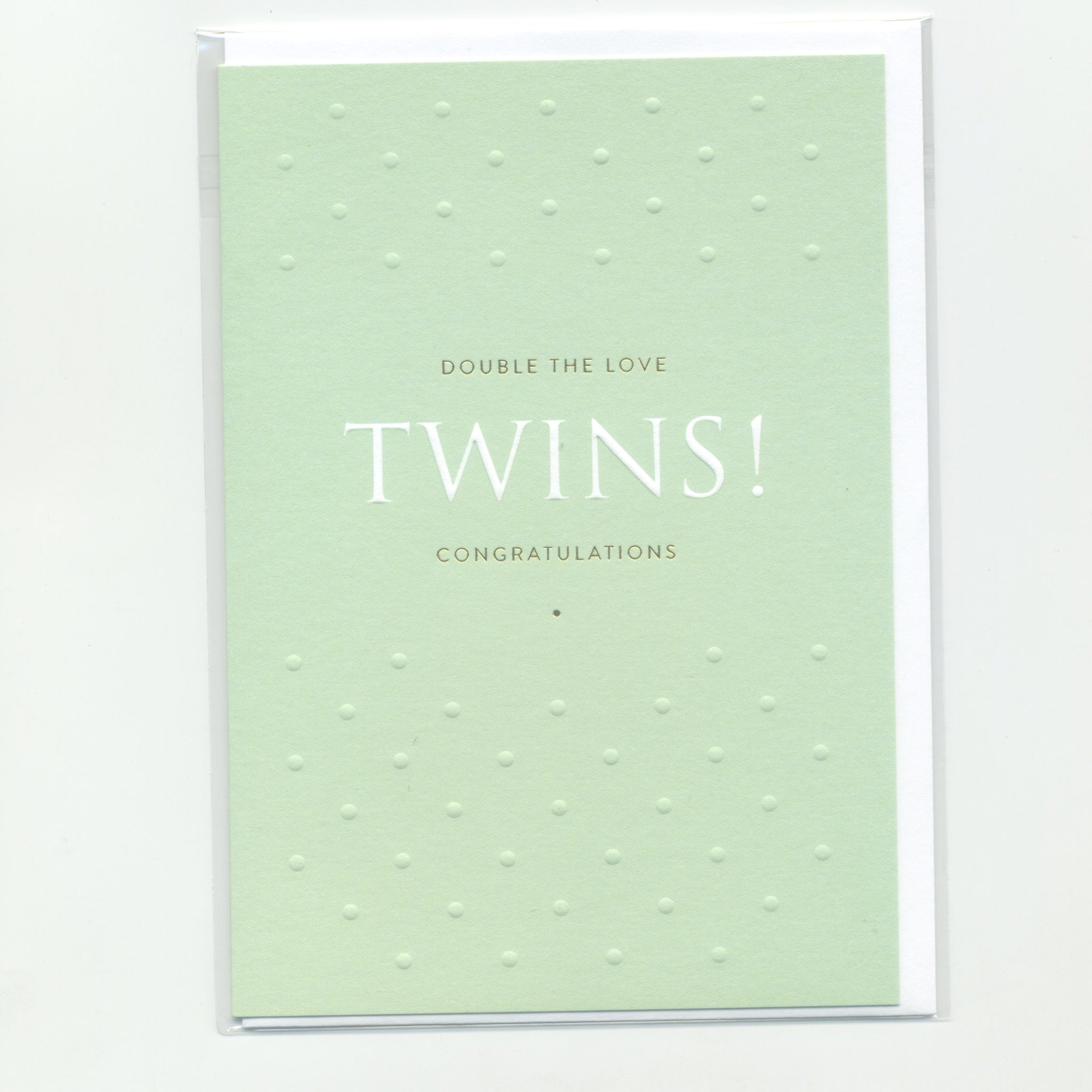 Double the Love Twins! Congratulations - Card
