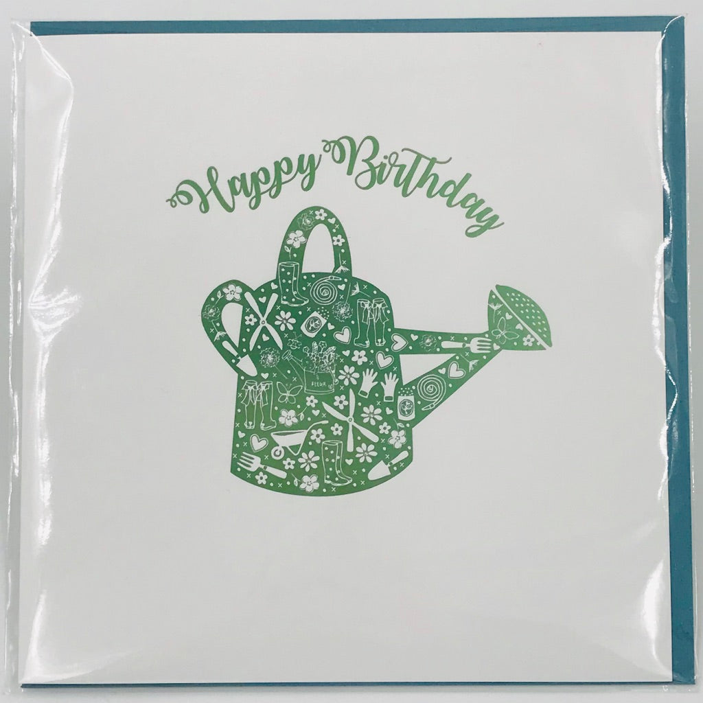 Birthday Watering Can - Card