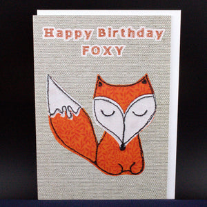 Happy Birthday Foxy - Card
