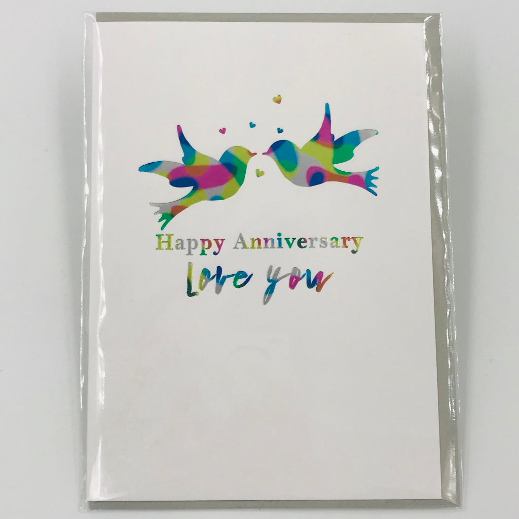 Happy Anniversary Birds - Card
