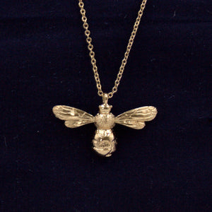 Gold Long Bee Necklace