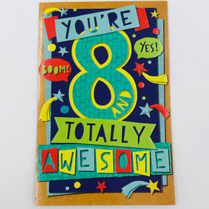 You're 8 Totally Awesome - Card