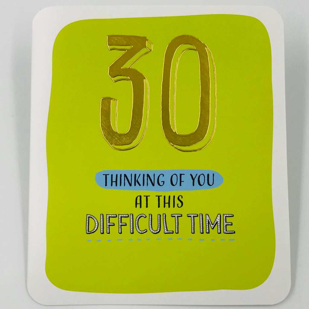 30 Difficult Time - Card