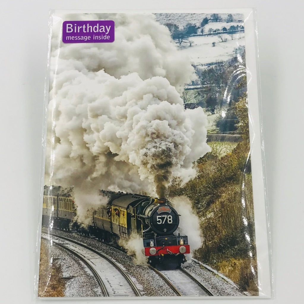 Steam Train - Card