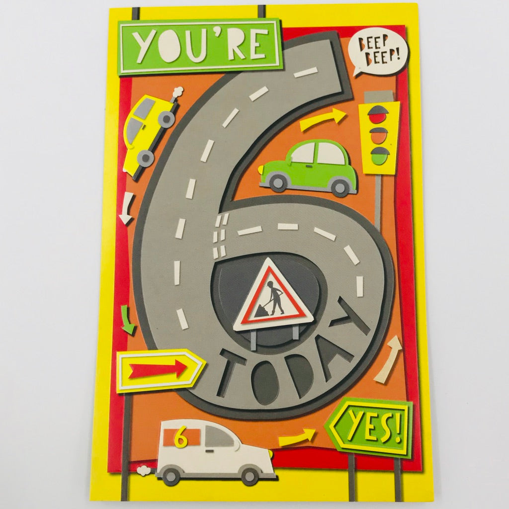You're 6 Today - Card