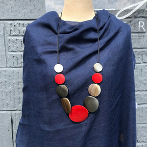 Wooden Disc Necklace