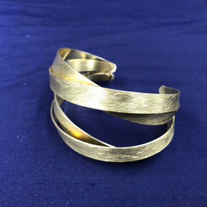 Banded Gold Cuff