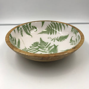Mango Wood & Enamel bowl