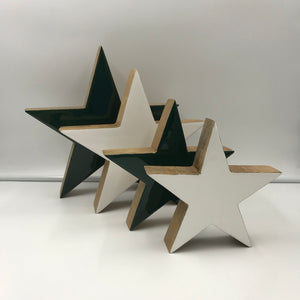 Enamelled Wooden Star