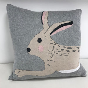 Knitted Hare Cushion