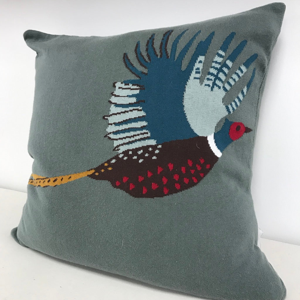 Knitted Pheasant Cushion
