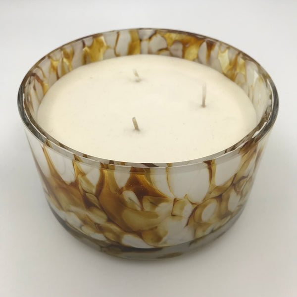 Marbled 3 wick candle