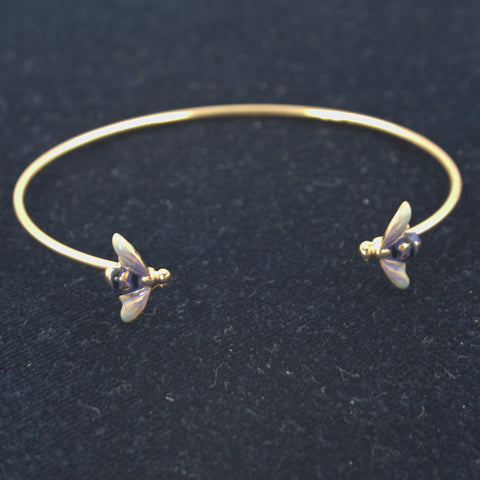 Enamelled Bee Bangle