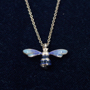 Enamelled Long Bee Necklace