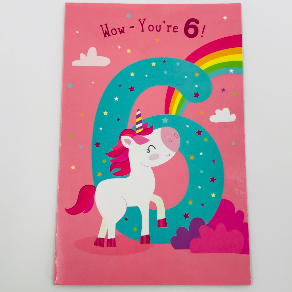Wow - you're 6! - Card