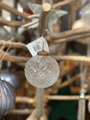 Translucent Textured Glass Bauble