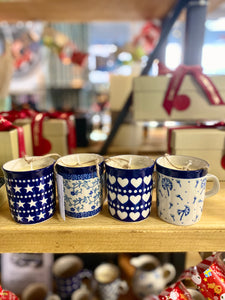 Polish Pottery Teacup Candles