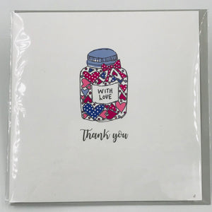 Thank you jar of hearts - Card