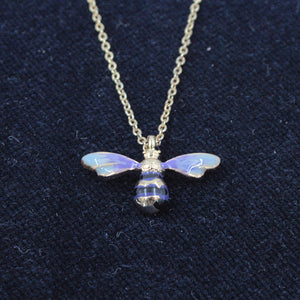 Enamelled Short Bee Necklace