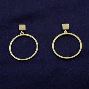 Square & Hoop Earrings