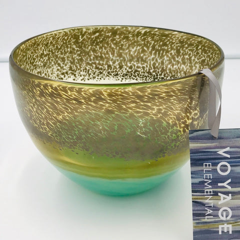 Demeter Gold & Green Glass Bowl