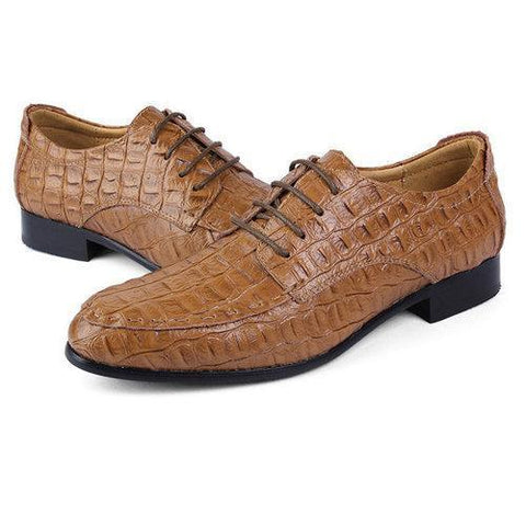 Large Size Men Leather Lace Up Pointed Toe Business Formal O