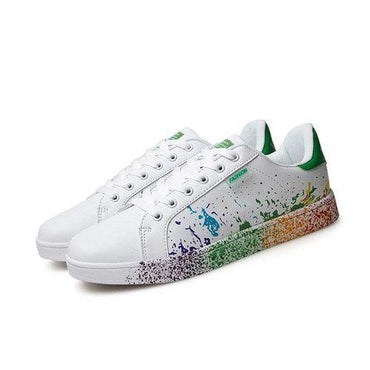 Big Size White Colorul Lace Up Casual Sport Running Sneakers