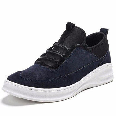 Stitching Color Match Suede Casual Running Sport Shoes