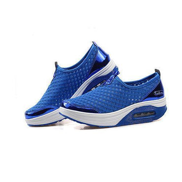 Big Size Mesh Breathable Rocker Sole Platform Sport Shoes